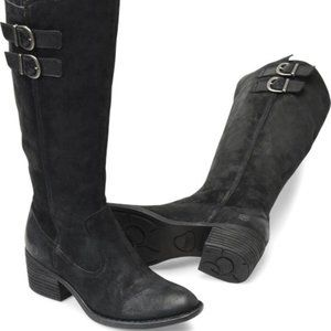 "Born ""Basil"" Black suede leather tall boot 5 NEW"